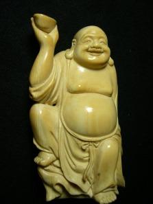 Maitreya / Laughing Buddha, Ivory.