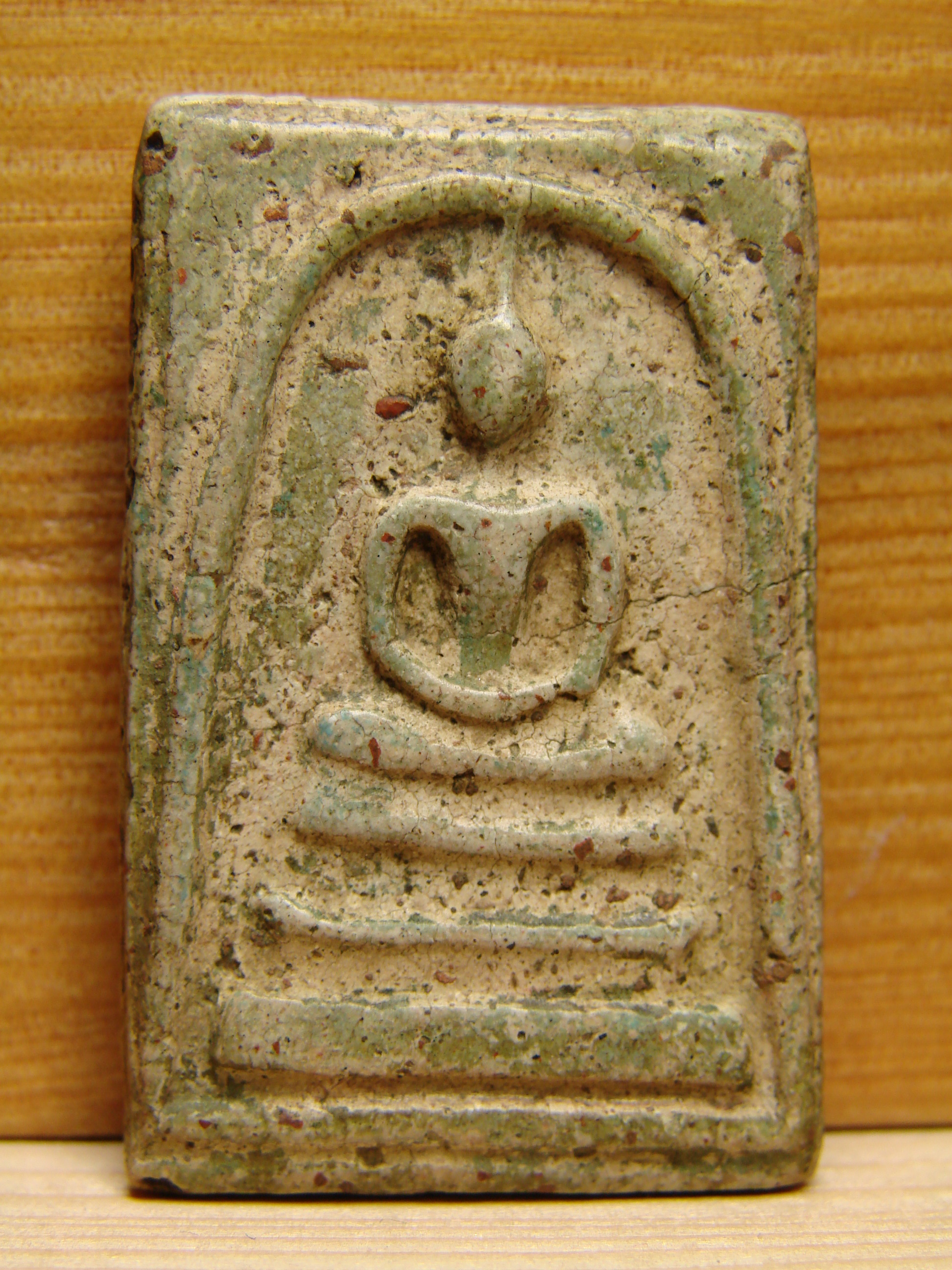 Phra Holy powder LP Dang Thai Monk Famous Yant  Amulet Life Protection brown